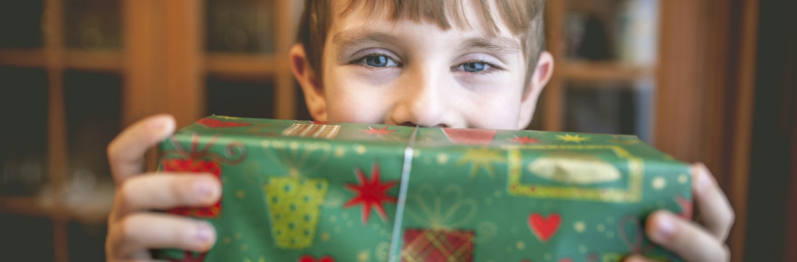 Boy with Christmas present website pic